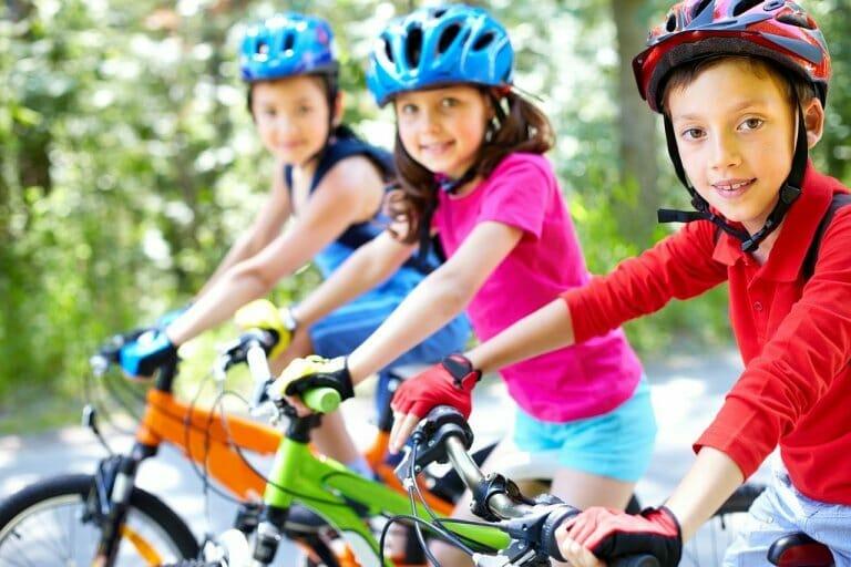 Ir al colegio en bicicleta