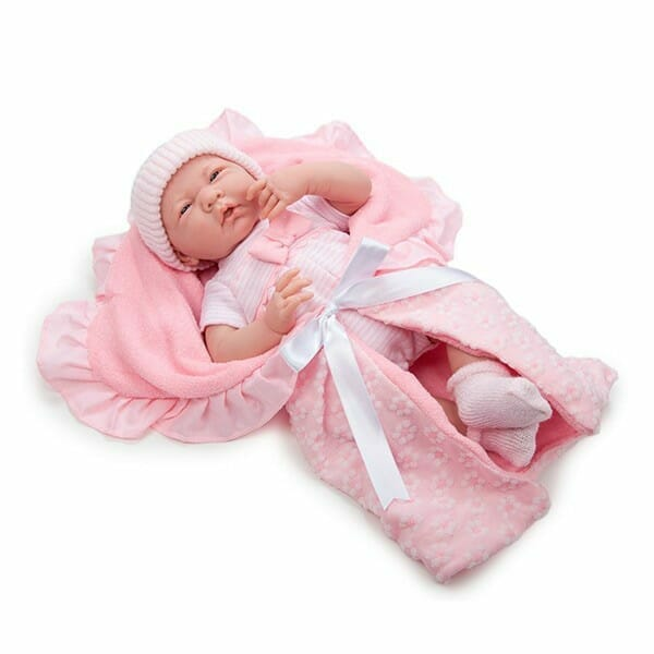 Muñeca Newborn con Vestido Rosa